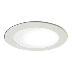 "Nora Lighting - Nora NS-22 4"" Albalite Lens with Metal Trim, Ns-22w - 4"" Albalite Lens with Metal Trim"