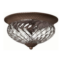 Hinkley Lighting - Hinkley Lighting 4881CB Plantation Outdoor Flush Mounts in Copper Bronze - Hinkley Lighting 4881CB Plantation Outdoor Flush Mounts in Copper Bronze