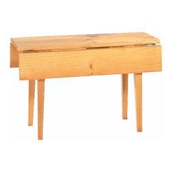 Renovators Supply - Miniature Furniture Antique Pine Mini Table 4 1/2 W 12 L 7 1/2 H | 65059 - Miniature reproduction of our famous Shaker drop leaf table. Table is 4 1/2 in. wide x 12 in. long x 7 1/2 in. high.