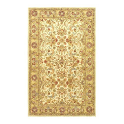 "Safavieh - Classic Gray/Yellow Area Rug CL324B - 2'3"" x 10' - In creating the Classic Collection, careful attention to each critical element of design, material, color, and workmanship was painstakingly undertaken to meet Safavieh's award winning standards. Some of the finest Persian and European exemplary designs are reinterpreted in the Classic Collection. The use of 100% pure premium wool and a luster wash gives the pile a plush, soft feel. Hand-tufted. Made in India."