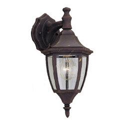 "Designer Fountain - Builder Cast Aluminum 7"" Wall Lantern - 7 inches cast wall lantern"