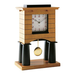 Alessi - Alessi Mantel Clock - Big Ben won't fit inside your home? That's ok. This lovely mini clock tower will quench your desire for a well-crafted clock. With maple-veneered wood and quartz movement, it has the makings of a regal monument only in miniature stature.