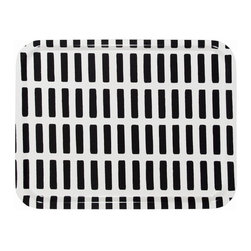 Inova Team - Modern Tray, Black/White - The Finnish architect and designer Alvar Aalto originally designed the Siena pattern for fabrics. His idea was that it could be used freely for different purposes. Aalto had a special fondness for Italy. In the course of his life he often returned to Italy, where he established important contacts and participated in architectural competitions and projects.