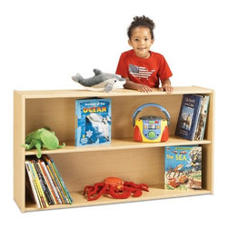 """Young Time - Straight Shelf Storage Unit - Features: -Shelf storage unit . -Available in ready to assemble model. -It is for budget-minded buyers seeking to get the most for their classroom furniture dollar. -Features rounded corners, a durable laminate surface, and thermo-fused edge banding, which helps seal out moisture. -All products are safety tested and certified and come with a full, one year guarantee. -Affordable, American-made early learning furniture designed with a focus on the functionality you need most. -Used as a bookcase or to store toys. -Accommodates all your storage needs. -1 year manufacturer's warranty. -Made in the USA. Specifications: -CPSIA and CARB compliant. -Overall dimensions: 26.5"""" H x 48"""" W x 12"""" D."""
