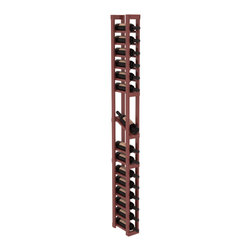 Wine Racks America - 1 Column Display Row Wine Cellar Kit in Pine, Cherry + Satin Finish - Make your best vintage the focal point of your wine cellar. High-reveal display rows create a more intimate setting for avid collectors wine cellars. Our wine cellar kits are constructed to industry-leading standards. You'll be satisfied. We guarantee it.