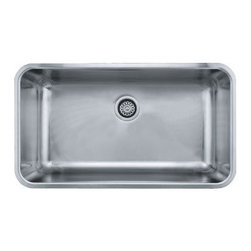 """Franke - Franke GDX11031 Stainless Steel Grande Grande 18-3/4"""" x 32-3/4"""" Single - Grande 32-3/4"""" Undermount Single Basin Stainless Steel Kitchen SinkThe Grande Collection from Franke brings you the simplicity of shape, the functionality of a flat surface, and the convenience of wide corners for easy cleaning. With these basic ideas in mind we believe the Grande Collection makes for the perfect kitchen sink.Franke GDX11031 Features:Stainless steel construction ensures durability and reliabilitySingle basinRear drain location optimizes usable room in sink basinMinimum Cabinet Size: 33""""Extra deep basin supplies maximum workspaceFranke GDX11031 Specifications:Material: Stainless SteelOverall Size: 32-3/4"""" x 18-3/4"""" x 9""""Installation Type: UndermountSink Shape: RectangularBasin Depth: 9""""Basin Length: 17""""Basin Width: 31""""Drain Location: RearGauge: 18Drain Connection: 3-1/2"""""""