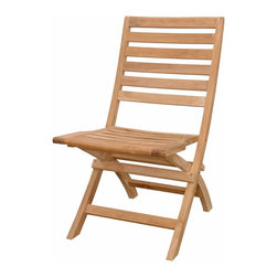 Anderson Teak - Andrew Folding Chair - The folding chair in beautiful unfinished natural teak. This simple, lovely chair offers pleasure and comfort with each use. It comes 2 chairs per order. Cushion is optional and is being made by order.