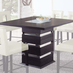 Global Furniture - G072BT Bar Table Wenge - Wenge/White - G072BT Bar Table Wenge - Wenge/White