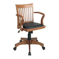 Office Star - Office Star OSP Designs Seating Deluxe Bankers Chair with Vinyl Seat - Office Star - Office Chairs - 108FW3