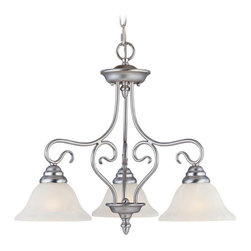 Livex Lighting - Livex Lighting 6133 3 Light 300W Chandelier with Medium Bulb Base and Vintage Sc - 3 Light 300W Chandelier with Medium Bulb Base and Vintage Scavo Glass from Coronado SeriesProduct Features: