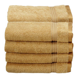 Superior Egyptian Cotton 8pc Gold Hand Towel Set - Made from the finest yarns, these hand towels are soft, subtle, absorbent and durable. A great addition to any bathroom!  Towel Set includes: Eight Hand Towels-16x30 each.