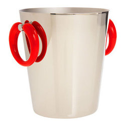 "Alessi ""Pop"" Ice Bucket - You know what's so awesome about this ice bucket? It's fancy-schmancy elegant, yet it's wearing the Chiquita Banana Lady's earrings. How totally fabulous is that?"