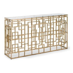 Regina Andrew - Regina Andrew Grill Rectangle Console Table - Redefine contemporary style with the Grill Rectangle Console Table from Regina Andrew Design. With an artist's eye, their assortment skillfully mixes modern with rustic, elegant with casual, romantic with relaxed. They have an eclectic vision that resonates with natural style.
