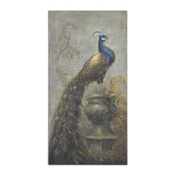 Uttermost - Surveying The Kingdom Canvas Art - This Hand Painted Artwork On Canvas Is Stretched And Applied To Wooden Stretchers. Due To The Handcrafted Nature Of This Artwork, Each Piece May Have Subtle Differences.