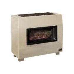 "Empire Comfort - Visual Flame Room Heater RH50BNAT - Natural Gas - Room heaters provide a convenient hassle-free way to heat any area of your home. This unit features a glass enclosure so you can view the soothing gas flames that are heating your home. You can even purchase a log set to enhance the visual appearance. It's stored inside a beige cabinet which can be placed anywhere in the room. The cabinet needs at least 55"" clearance on top, 6"" clearance on the sides, 18"" clearance in the front for easy access, and 2"" clearance from the draft diverter to the wall. This model uses natural gas, and includes an automatic blower that spreads heat throughout the room. Empire includes a 10-year limited warranty for the combustion chamber and a 1-year warranty on parts."