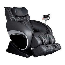 Cozzia 16027 Massage Chair - This is the best massage chair that Cozzia has to offer.  It incorporates some of the most sophisticated massage features into an affordable package that looks good and will provide one with hours of relaxation and back therapy.  This luxury massage chair incorporates a large range of features but most importantly - zero gravity massage.  This sought after features means the chair adjusts to a zero gravity position on your back and vertebrae and starts the treatments in this position when the back and muscles are at their most relaxed position.  Therapeutic massage includes: Shiatsu (acupressure), kneading, rolling, tapping, clapping, vibration, dual-action & tri-action techniques. Auto-scanning automatically or manually customizes a personal massage specifically for each user and the invigorating air pressure system in calves and feet provides a total body massage.  Six pre-programmed sessions in the upper, middle and lower back are available.