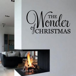 The wonder of Christmas Vinyl Wall Decal hd040, Light Brown, 72 in. - Vinyl Wall Quotes are an awesome way to bring a room to life!