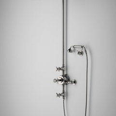traditional bathroom faucets by Rebekah Zaveloff