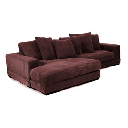 Moe's Home Collection - Plunge Sectional - Dark Brown - Take a plunge into this sectional and you may never get up! This piece can be left or right side facing.