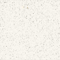Zodiaq Cloud White - We really find this white quartz appealing for modern or contemporary kitchens and baths we often move clients in this direction if they are looking for a more consistent look than the veining and movement in natural stone.