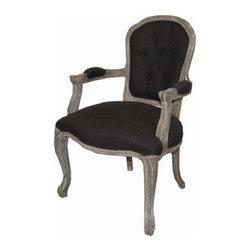 ARTeFAC - RV-8900 Classic Fabric Arm Chair, Light Grey - RV-8900 Classic Fabric Arm Chair