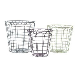 Connor Metal Baskets - Set of 3 - Expertly crafted from metal, the Connor metal baskets are the perfect way to add storage and a subtle rustic touch to any space.