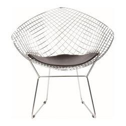 Bertoia Diamond Chair in Chrome - Bertoia Diamond Chair in Chrome