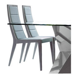 Rossetto - Rossetto Sapphire Dining Chairs in Grey (Set of 2) - Rossetto - Dining Chairs - R348106000GDG - A perfect ergonomic structure. Comfort and elegance combine for a smooth design in lacquered wood.