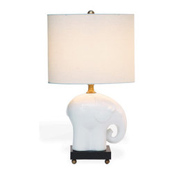 Bambino Lamp - This sweet little elephant lamp is perfect for a baby's room.
