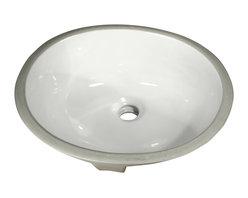"Nantucket Sinks - Nantucket Sink GB-15x12-W Ceramic Lavatory Sink - Nantucket Sinks GB-15x12-W - 15"" x 12"" Glazed Bottom Ceramic Oval Bathroom Sink in White. This sink has a 1.75"" drain diameter."