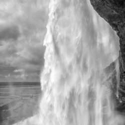 """""""Through the Waters II"""" Artwork - This photograph was taken in Southern Iceland at a waterfall called Seljalandsfoss. Limited to 9 Artist Proof editions in a particular size. They will be signed and numbered on the back of the image.  I print all images using the latest technology, the highest-quality papers, and newest archival inks. Additionally, I include a 5mm white border to ensure proper handling that eliminates the potential for fingerprints."""