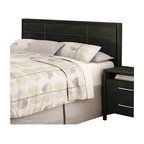 South Shore - South Shore Gravity Full/Queen Panel Headboard in Ebony Finish - South Shore - Headboards - 3577256 - Designed for full or queen size beds, the South Shore Gravity Panel Headboard has decorative grooves that increase its refined character and add to its contemporary style. Can be combined with the Gravity Queen Platform Bed for a complete set. It features a cross bar at the bottom for optimal stability.