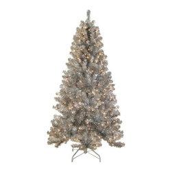 Silver Paradise Tinsel Tree - ADD A PRECIOUS TOUCH TO THE SEASON WITH THE SILVER PARADISE TINSEL TREE