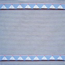 Tea Towel Sailboat - 8S Sailboat Tea Towel. Heavy luscious jacquard, woven in Portugal. 100% Cotton. Wash in warm water, tumble dry.