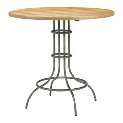 French Heritage - French Heritage St. Gilles Bar Table - Put this baby in a corner! Simple and chic with a wrought iron base and smooth, rounded top, it's the perfect fit and style for a breakfast nook, game room or home bar area.