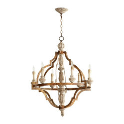 Cyan Design - Cyan Design Bastille 6-Light Chandelier - Beautiful enough to have graced old plantation mansions of the South, this six-light chandelier would look stunning over your staircase or in your entry hall. This graceful sculpture will give your room some style with a capital S.