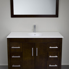 bathroom vanities and sink consoles by modernbathrooms.ca