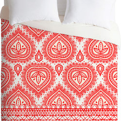 DENY Designs Aimee St Hill Red Decorative Duvet Cover