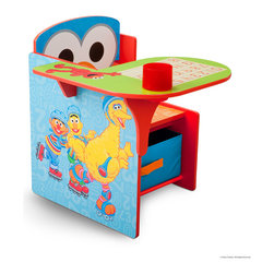 Adarn Inc - New Little Kids Toddler Furniture Sesame Street Storage Chair Desk w/ Cup Holder - This wonderful new Sesame Street Chair Desk is the perfect place for your little one to sit and get all of her work done. Designed with Sesame Street, and a new classy Sesame Street design, this chair desk is great for coloring, playing, and reading. The seat also opens as a storage space for your little one's toys, books, and arts supplies. The desk also features a cup holder that can be used for beverages and art supplies holders. Some assembly is required. Meets all JPMA safety standards.