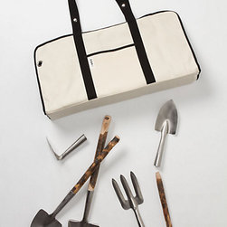 Shime Garden Tools - I love an amazing gardening set, and this one is truly stunning. Be uber stylish while gardening with this crisp white bag and tools that sport Japanese cherry handles.