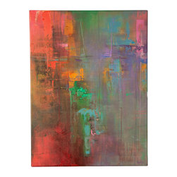 'Blurred World' Original Painting - Original acrylic abstract painting created on regular style canvas.
