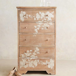 Pearl Inlay Narrow Dresser - Here's a dresser for those who fear doing their own stenciling.