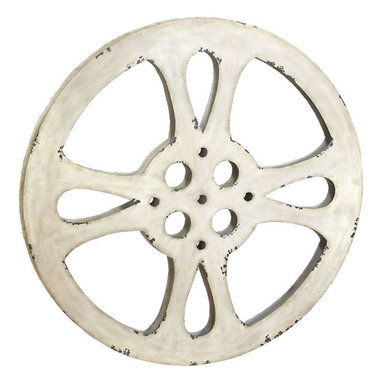 """ecWorld - Hollywood Vintage 42"""" Metal Film Reel Home Movie Theater Accent Decor Wall Art - Add a touch of movie magic to your home decor with the Hollywood metal movie reel wall accent. This is a large piece and the perfect addition to a media room, home theater or office. Imported."""
