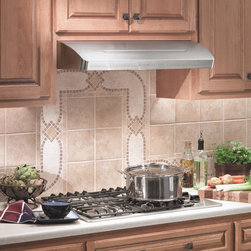 Broan - Broan E661 Elite Under Cabinet Professional Range Hood - Update your kitchen with this professional range hood. This range hood ensures fast clean up with a fully enclosed filter bottom among many other features.
