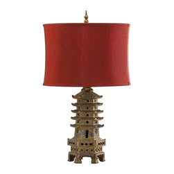 Cyan Design - Cyan Design Pagoda Table Lamp in Antique Gold - Pagoda Table Lamp in Antique Gold