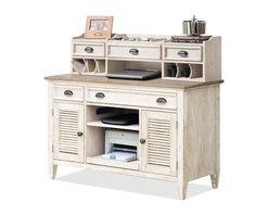 Riverside Furniture - Coventry Two Tone Credenza Desk with Small Hutch - Desk: