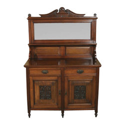 Antiques - Antique Victorian Walnut Buffet Sideboard Server - Origin: England