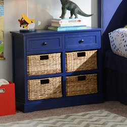 Cobalt Blue 6-Drawer Kids Storage Chest - Chest measures 30L x 13W x 28H in.