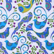 Fabric Michael Miller fabric blue Pretty Bird doves