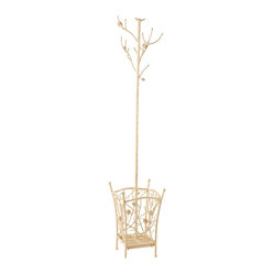 Holly martin willow hall tree french vanilla finally an exciting place to hang your hat - Adding character to your hallway with a hall tree ...